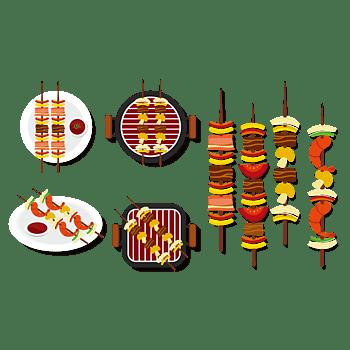 精美卡通烧烤美食元素设计
