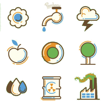 环保主题矢量素材