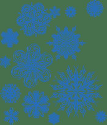 蓝色雪花冬季素材