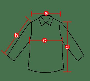外套服装线稿衣服测量简笔画线条