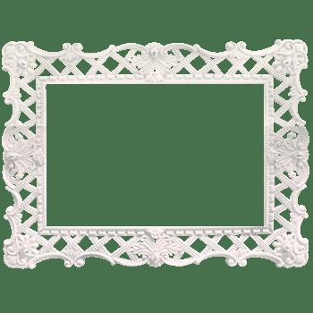 白色欧式花纹边框