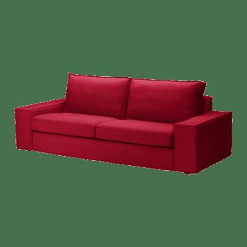 宜家红色三人沙发