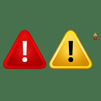 红黄警示标志PSD素材
