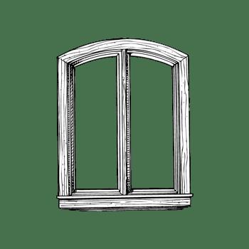 卡通手绘窗户