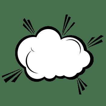 卡通手绘爆炸云对