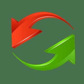 红绿色回收循环立体箭头ppt素材