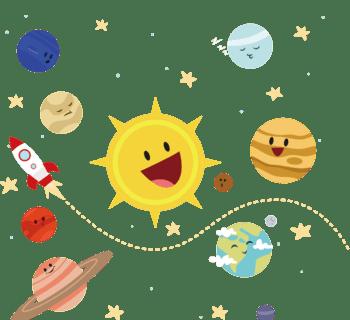 宇宙卡通图