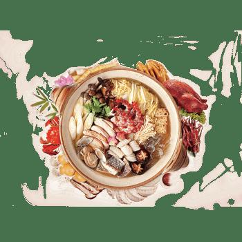 美食火锅丰富食材幸福感餐饮