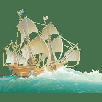 大海中行驶的帆船
