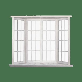 四扇白色的窗户