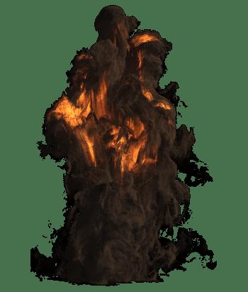 黑色烟雾效果元素装饰元素