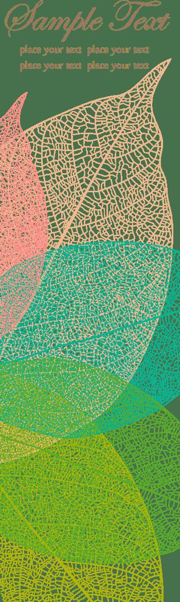 春季树叶纹理底纹名片