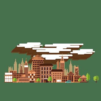 矢量卡通城市建筑高楼