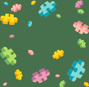 彩色拼图漂浮多边形装饰元素背景