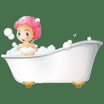 美女宝宝洗澡图片素材