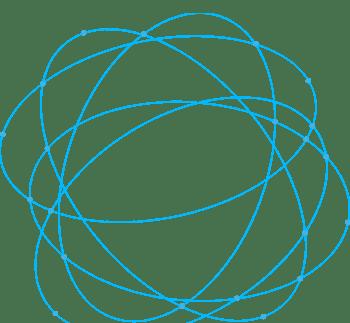 抽象几何科技线条蓝色绕圈