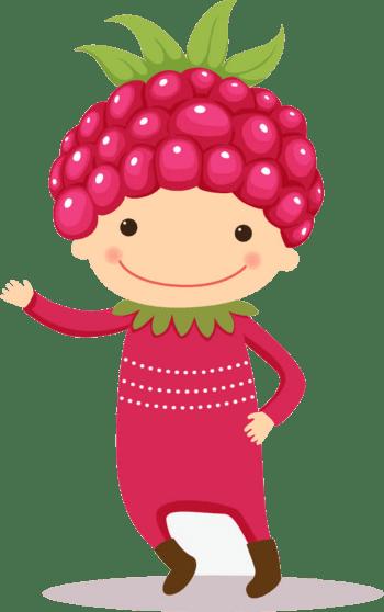 卡通六一儿童节水果素材