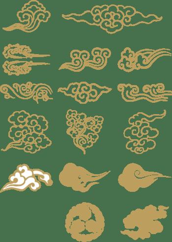 中国元素祥云装饰图案
