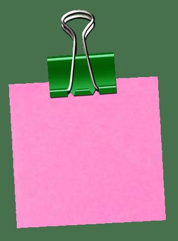 边框矢量图相框卡通  便利贴夹子