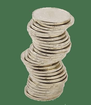 一摞硬币高清图片