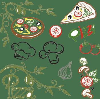 卡通pizza美食素材背景