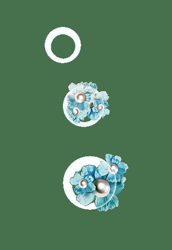 白色气泡手工花朵