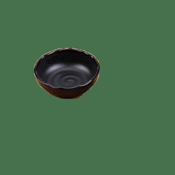 高档黑色磨砂碗