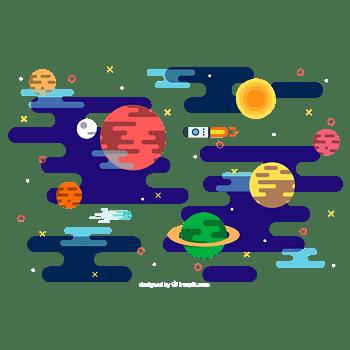 平面行星背景图片下载
