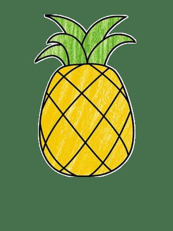 简笔画菠萝