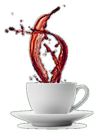泼洒咖啡饮料广告