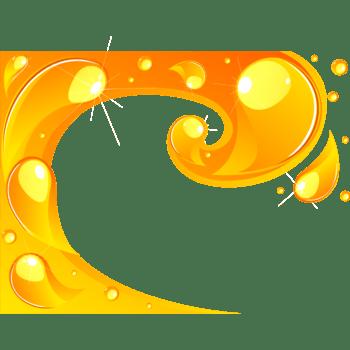 迸溅黄色液体