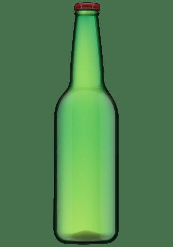 红色盖子的啤酒瓶