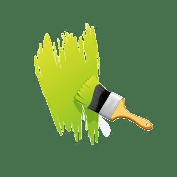 文案背景元素 刷墙 绿色背景 刷子 漆