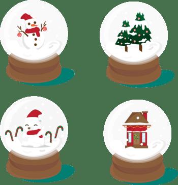 白色光效圣诞球