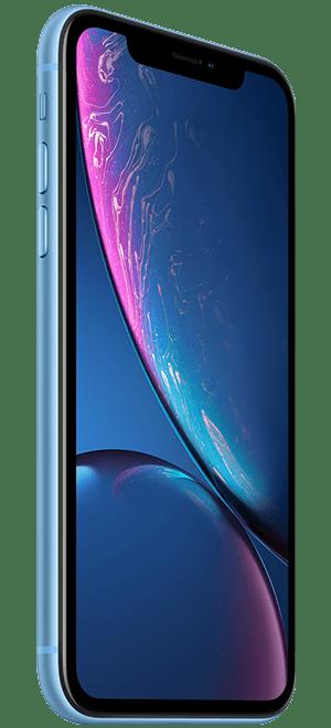 iphonexr蓝色款正面侧拍免抠素材