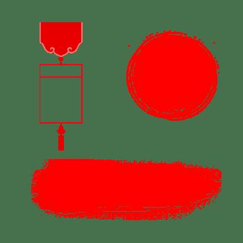 中国风红色墨迹传统标题栏