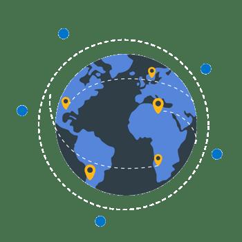 蓝色地球标记地点
