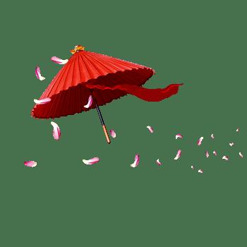 漂浮的花伞