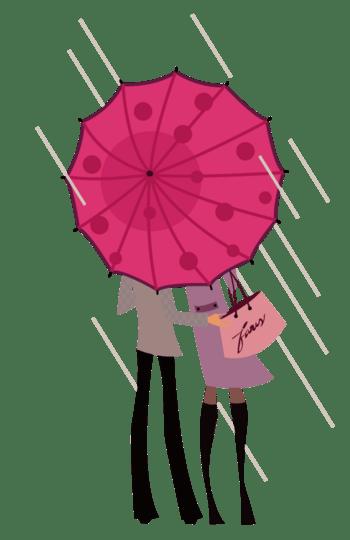 下雨天的情侣