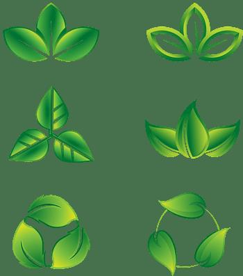 矢量树叶绿色生态图标