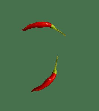 新鲜的小红辣椒食材