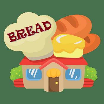 卡通面包房子
