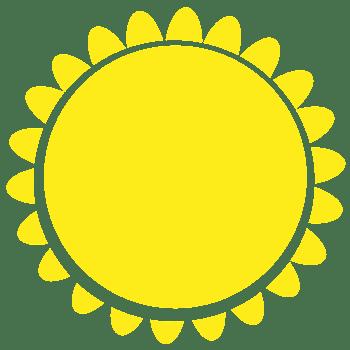 黄色卡通太阳