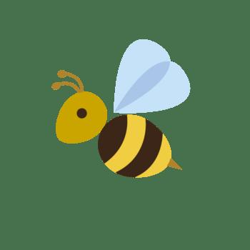卡通黄色蜜蜂