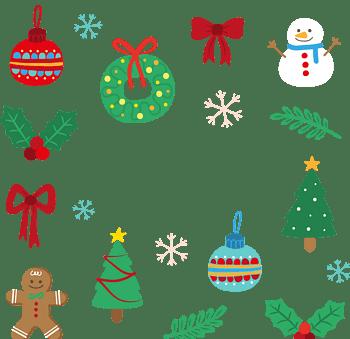 卡通矢量圣诞元素装饰