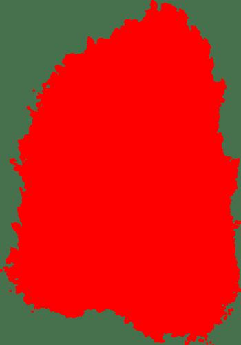 不规则几何形状红色印章合成