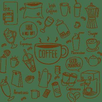 手绘咖啡元素矢量素材图片