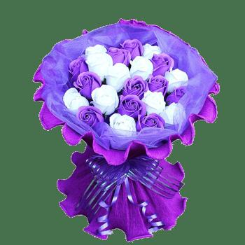 玫瑰花紫色花束包装