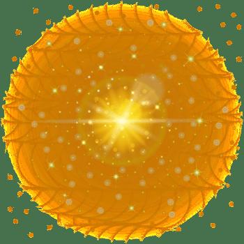 黄色梦幻光效背景