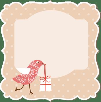 不规则形状边框小鸟图案